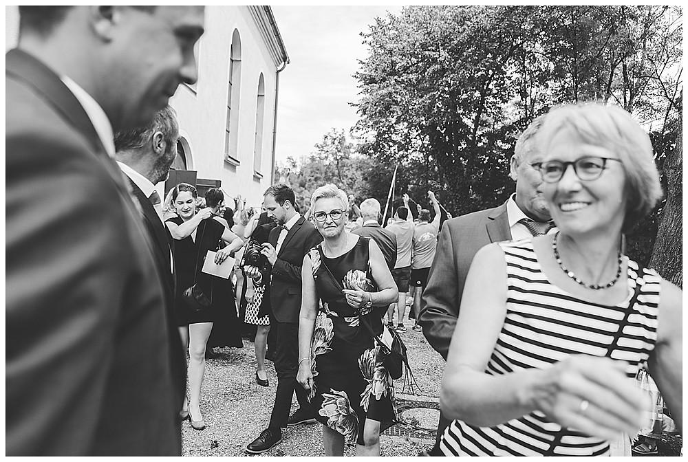 kirchliche Hochzeit Kirche Hürben Gratulation Brautpaar