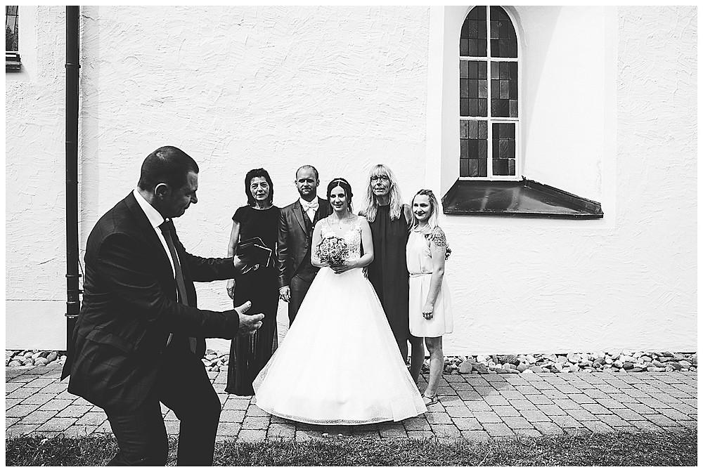Kirche Scharenstetten Hochzeit Sektempfang