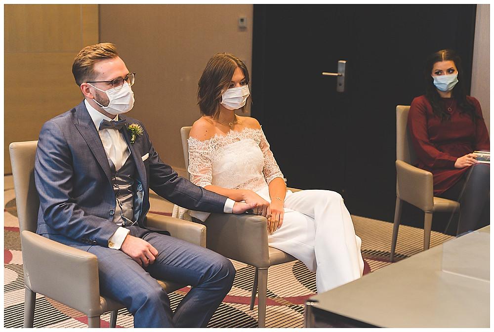 Brautpaar im Standesamt Augsburg