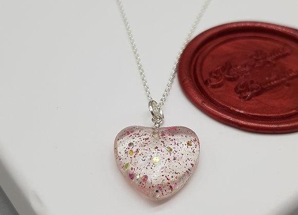 Glitter Heart Pendant