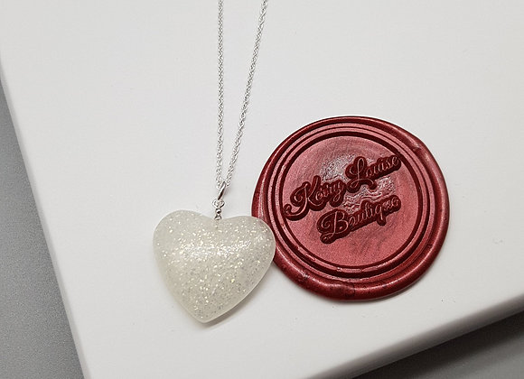Large Glitter Heart Pendant