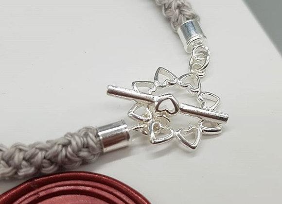 Multi Heart Toggle Cotton Bracelet