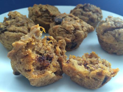 Healthy Choc Chip Pumpkin Muffins