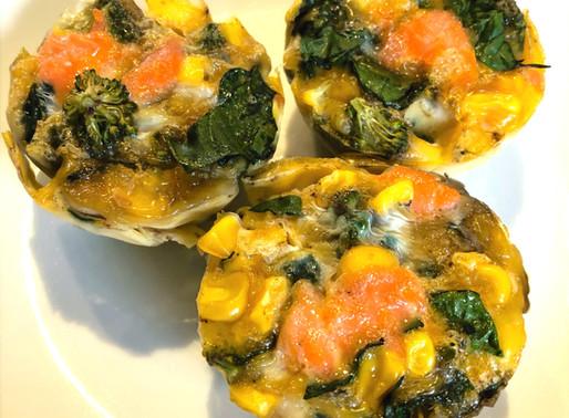 Salmon & Spinach Egg Frittata Muffins