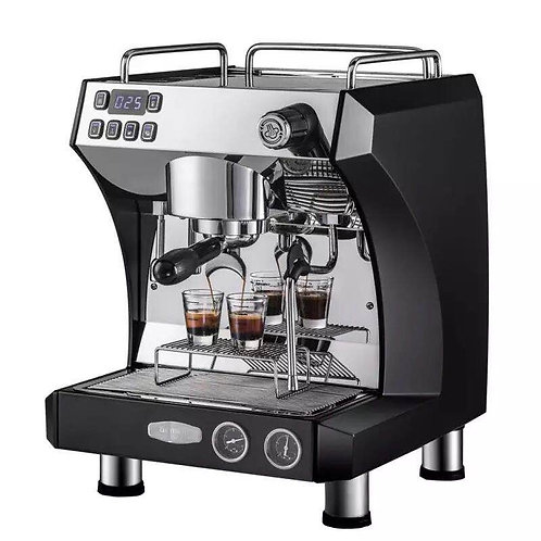 Semi-automatic Italian single-head commercial coffee machine (steam integration)
