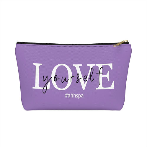 Love yourself- Accessory Pouch w T-bottom