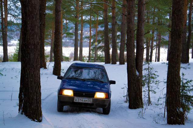 Ваз 21099 фото в лесу