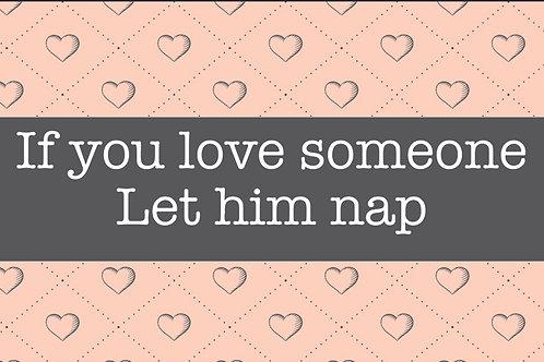 שטיחון אם אתה אוהב לחדר השינה