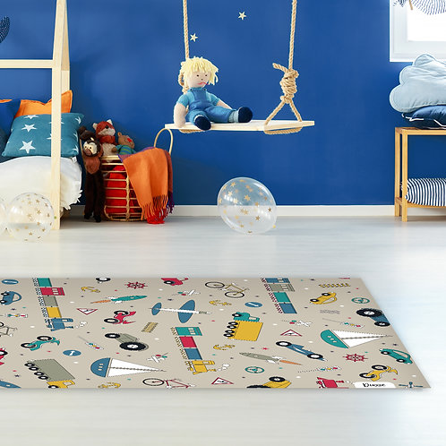 שטיח ילדים צעצועים רטרו