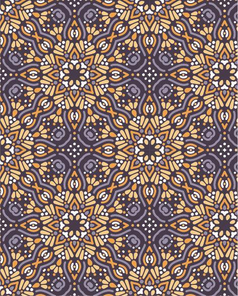 שטיח PVC לסלון -אתני