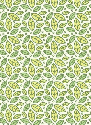 שטיח לינולאום עלים