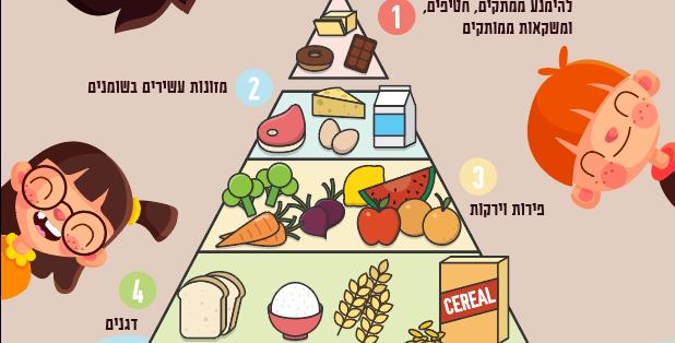 מדבקת קיר - פרמידת המזון