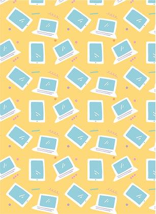 שטיח לינולאום מחשבים