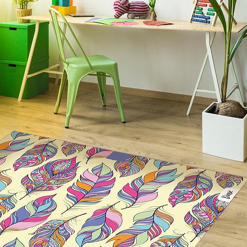 שטיח ילדים נוצות בוהו