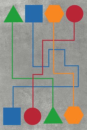 מדבקת רצפה מסלול 4