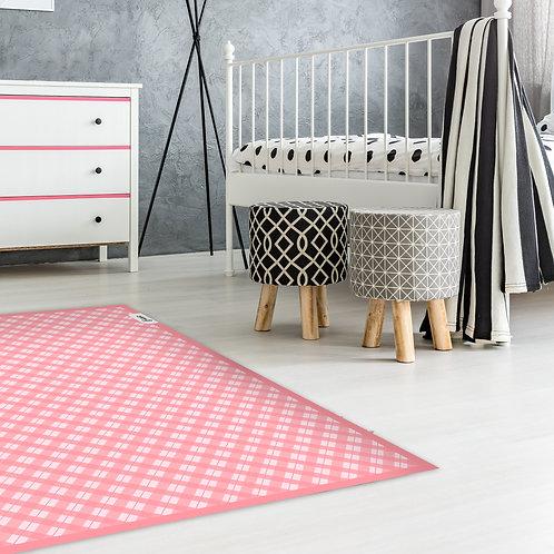שטיח לילדים משובץ ורוד