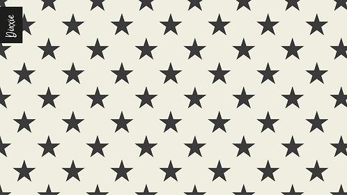 שטיח מטבח כוכבים אפור שמנת