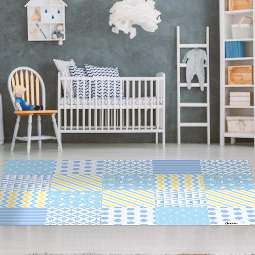 שטיח ילדים אריחים כחול