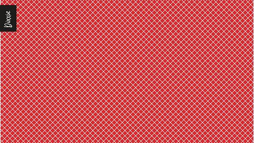 שטיח מטבח רשת אדום