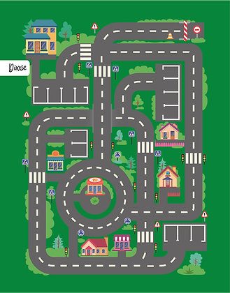 שטיח לינולאום מסלול מכוניות