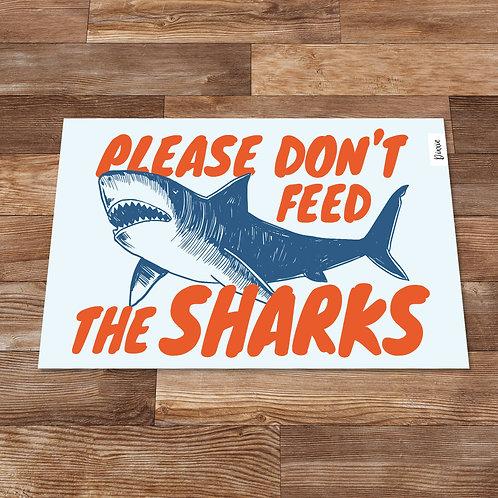 שטיח מטבח כרישים כחול