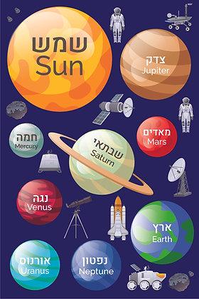 שטיח לינולאום מערכת השמש