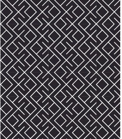 שטיח PVC לסלון -גאומטרי שחור לבן