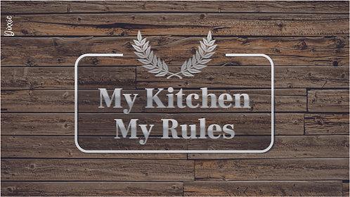 שטיח מטבח כללים עץ