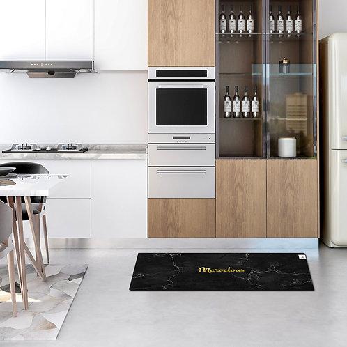 שטיח מטבח שיש שחור