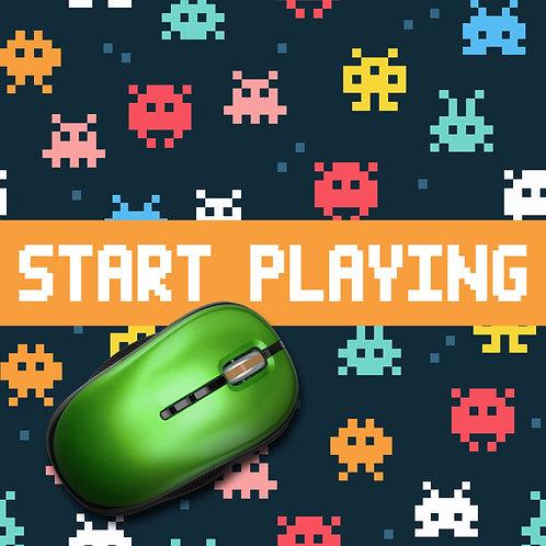 משטח עכבר גיימרים start playing