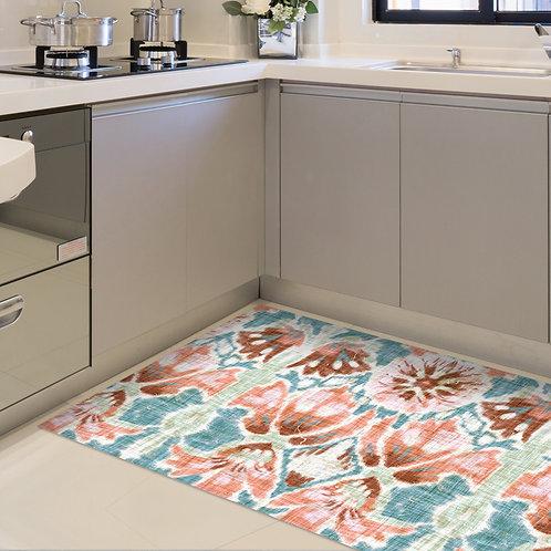 שטיח מטבח מים פרחוני