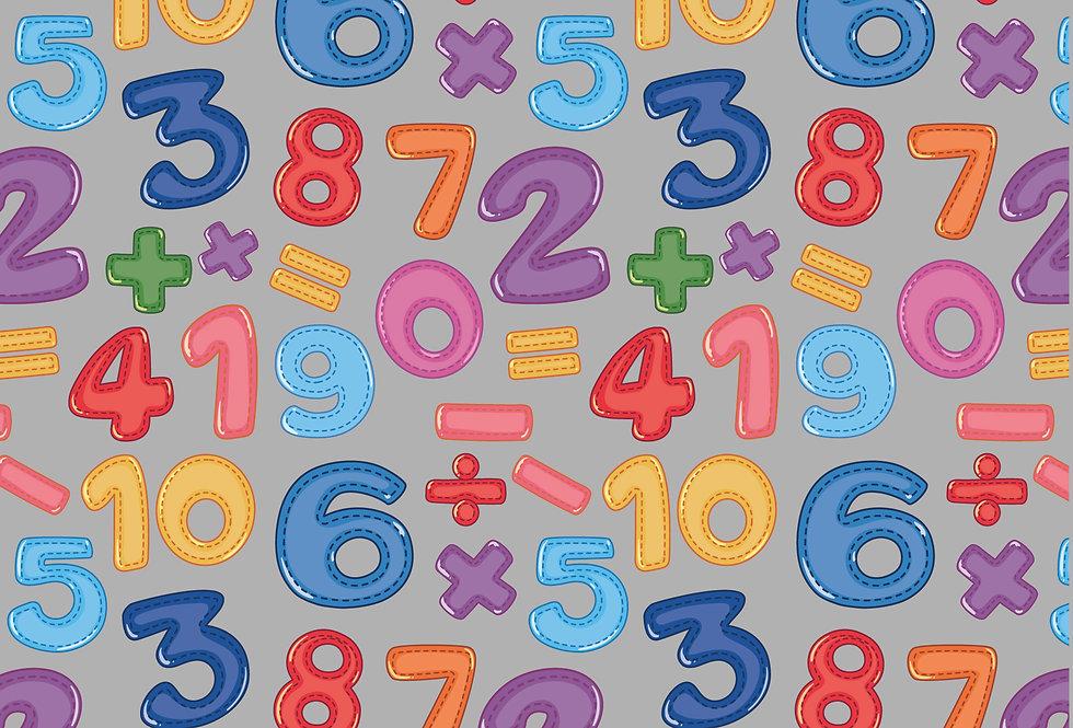שטיח לינולאום מספרים אסימטרי
