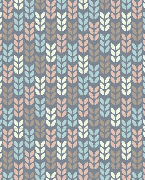 שטיח PVC לסלון -עלים מודרני