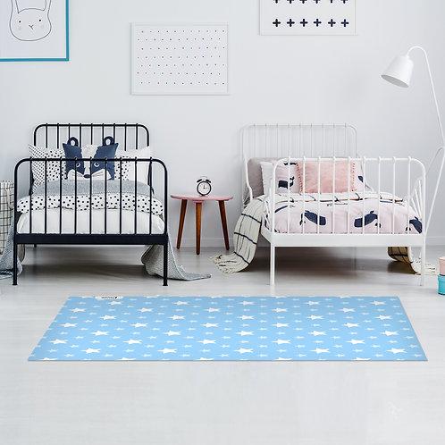 שטיח ילדים כוכבים כחול