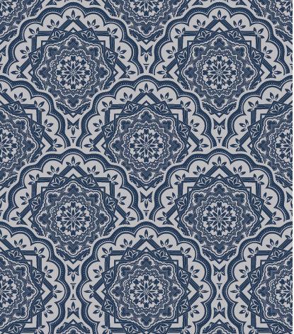 שטיח PVC לסלון -כחול אוריינטלי