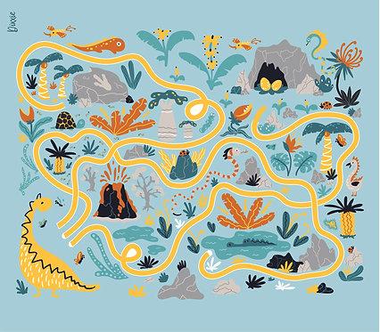 שטיח חדר ילדים מסלול דינוזאורים