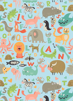 שטיח לינולאום חיות