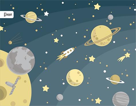 שטיח ילדים חלל