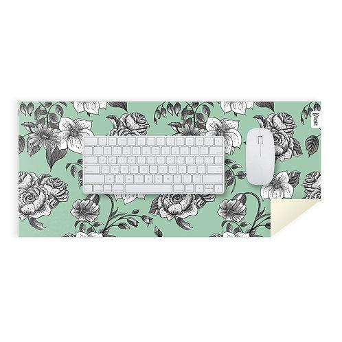 משטח עכבר ירוק פרחים