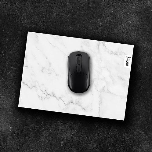 משטח עכבר מרבל לבן