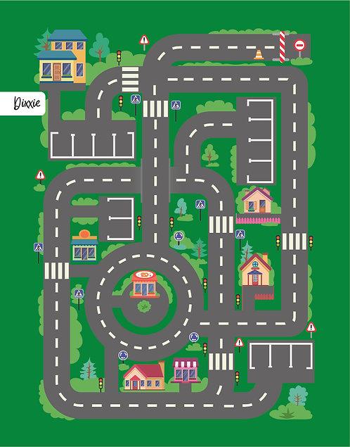 שטיח מסלול מכוניות לילדים