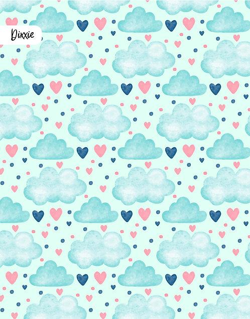 שטיח לילדים עננים ולבבות