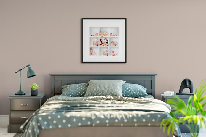 9 box framed print