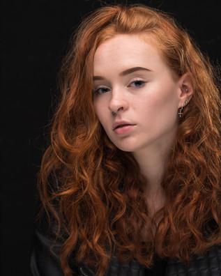 Red hair model headshot taken in Maroochydore