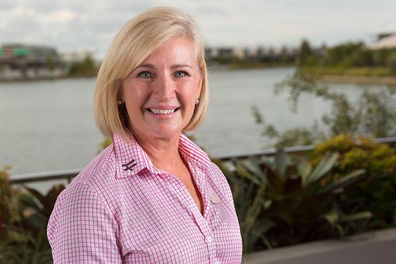 Kim McCosker Corporate headshot taken at The Lakehouse Sunshine Coast
