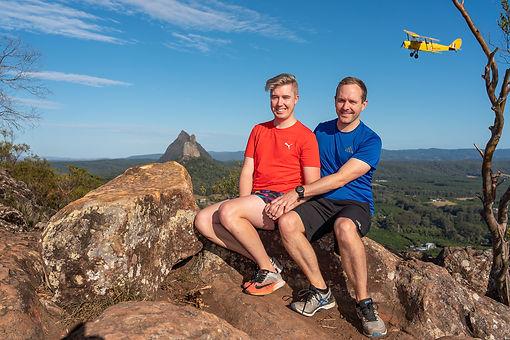 Wedding proposal on top of Mt Ngungun, G