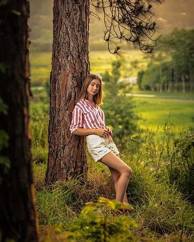 Outdoor fashion model photoshoot in Noosa