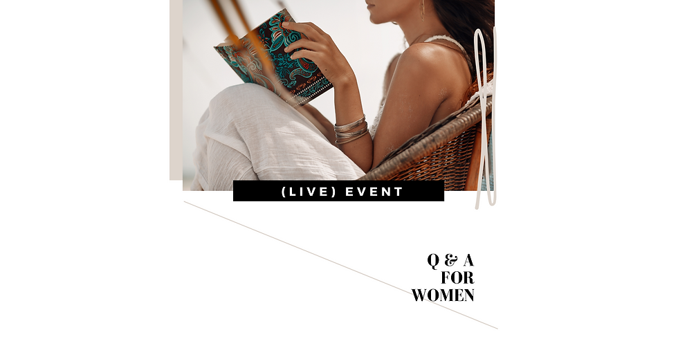 (LIVE) Q & A FOR WOMEN - Better Relationships Better Connection