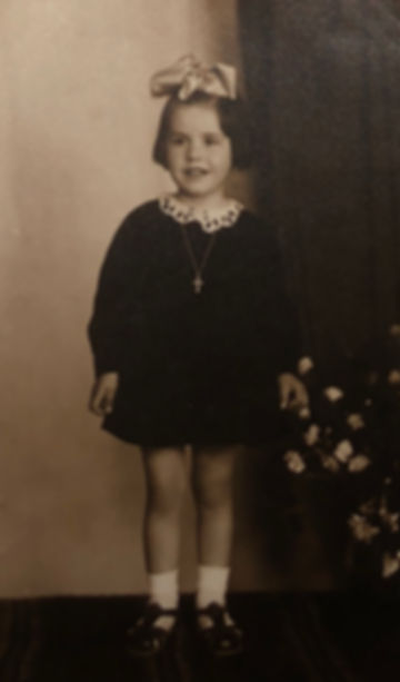 My mother, around the time of her adoption