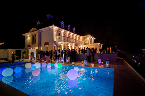 private-pool-party-floating-orbs